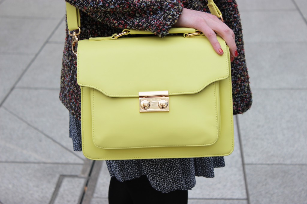 outfit of the week yellow candy, fashion blog UK, asos yellow satchel