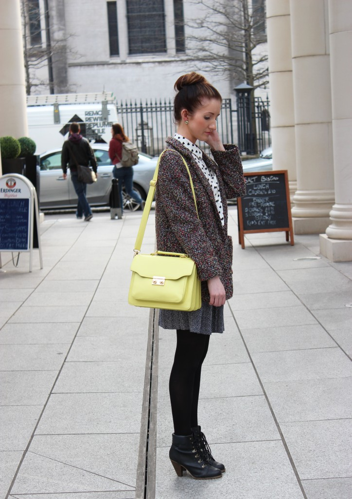 outfit of the week yellow candy, fashion blog UK, fashion blogger belfast