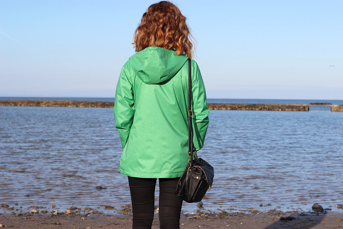 lighthouse-clothing,-nautical-waterproof-rain-jacket,-millisle-beach,-fashion-blogger-uk