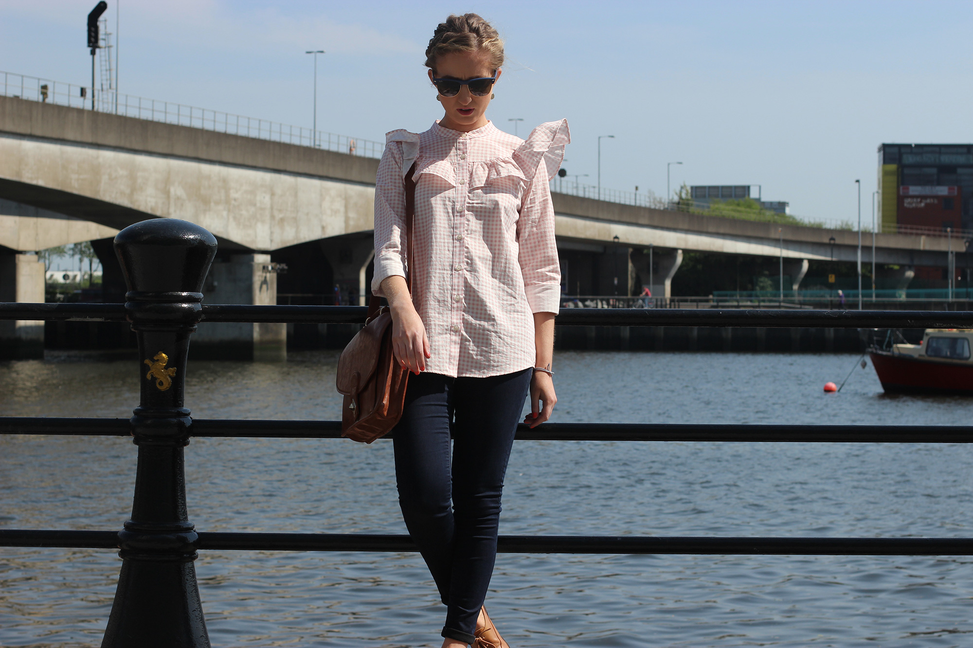pull-&-bear-pink-ruffle-top,-northern-ireland-blog